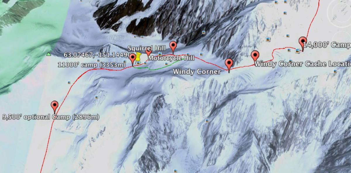 Denali 11k foot camp